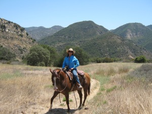 trail ride, horses, Rancho Oso, Santa Barbara